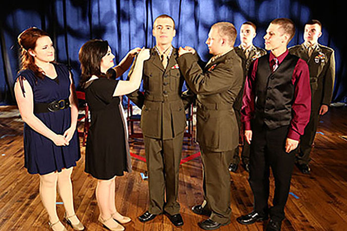 Four Star Pinning Ceremony depicted in play