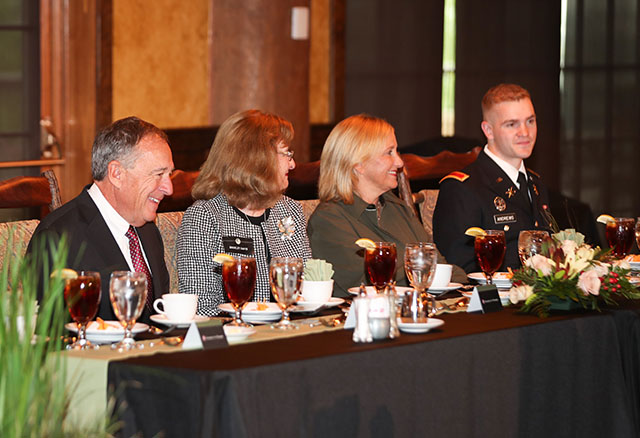 Distinguished quest at luncheon of Global War on Terrorism Memorial Dedication