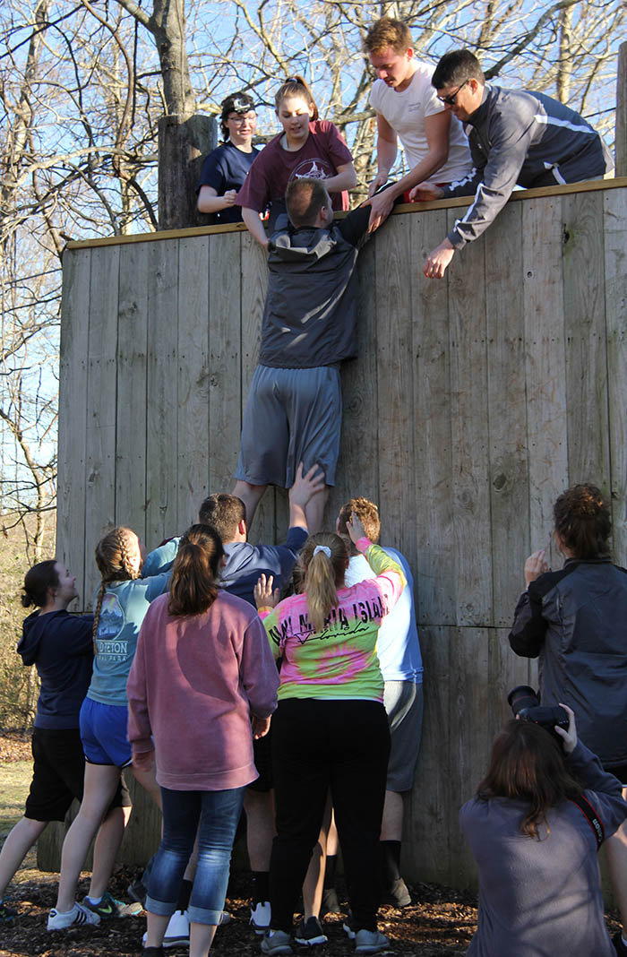 New C of O student complete challenge course with his team's help