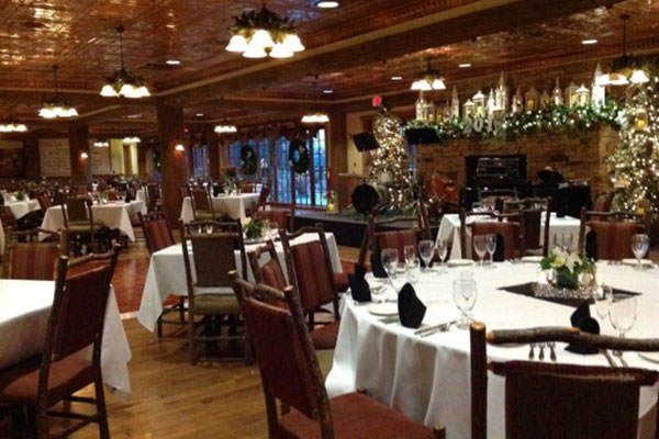 The Dobyns Dining Room setup for guests to arrive.