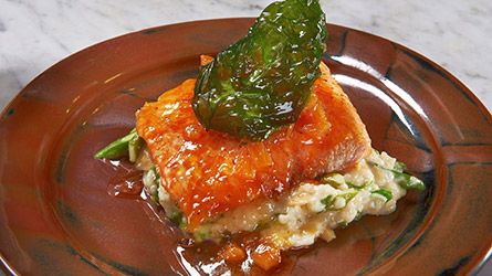 Atlantic Salmon and Brie Risotto