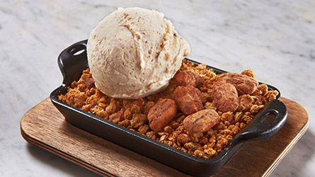 Candied Pecan Apple Butter Brown Betty