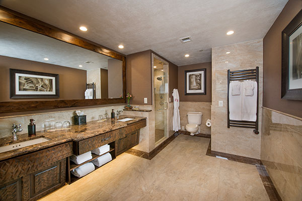 Luxury bath in Branson Skyline Business Room