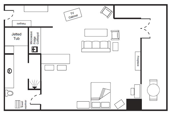 Loft Room floor plan at The Keeter Center
