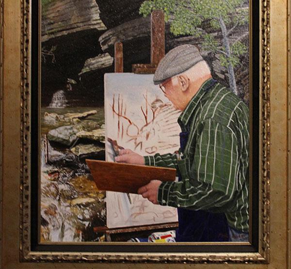 White River Exhibit Painting